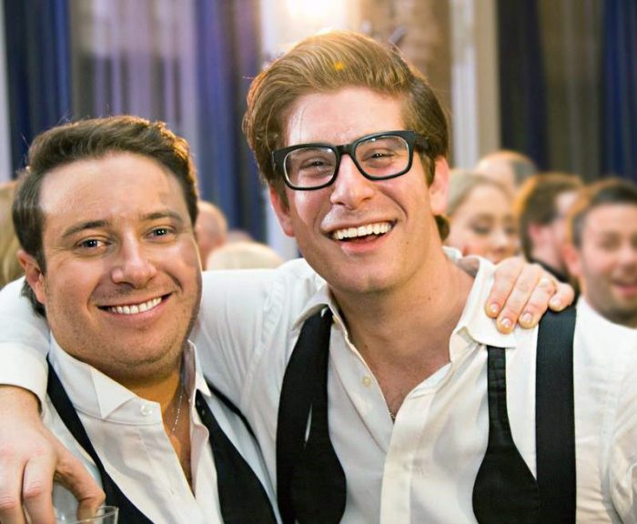 Ryan and Alex at wedding